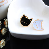 Cute Cat Enamel Brooch (2 Pcs / Set)