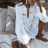 Cover Up Lace Crochet Dress Women