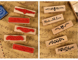 Beautiful Vintage Strip Wooden with Rubber Stamp