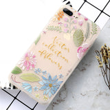 iPhoneGuards flower-patterned-iphone-case-covers Rose For iPhone 7 For-Her Silicon iPhone-6 iPhone-6-Plus iPhone-7 iPhone-7-Plus iPhone-8 iPhone-8-Plus iPhone-X Cute Flower Pink