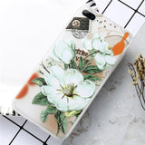 iPhoneGuards flower-patterned-iphone-case-covers White Peach Blossom For iPhone 7 For-Her Silicon iPhone-6 iPhone-6-Plus iPhone-7 iPhone-7-Plus iPhone-8 iPhone-8-Plus iPhone-X Cute Flower Pink