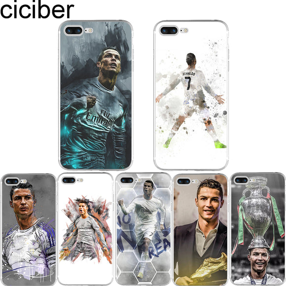 iPhoneGuards cristiano-ronaldo-iphone-cases-covers pattern 6 For iphone 6 6S For-Him Silicon iPhone-6 iPhone-6-Plus iPhone-7 iPhone-7-Plus iPhone-8 iPhone-8-Plus iPhone-SE iPhone-X Cristiano-Ronaldo Soccer Sport