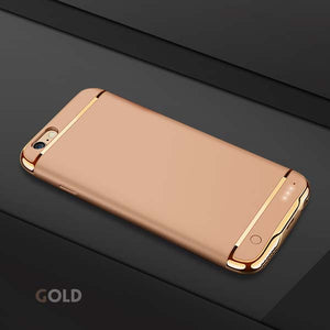 iPhoneGuards battery-charger-iphone-case Gold For iphone 6 6s Accessory iPhone-6 iPhone-6-Plus iPhone-7 iPhone-7-Plus iPhone-8 iPhone-8-Plus Battery-Case Charging Extended-Battery Luxury Pink