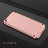 iPhoneGuards battery-charger-iphone-case Gold For iphone 7 Plus Accessory iPhone-6 iPhone-6-Plus iPhone-7 iPhone-7-Plus iPhone-8 iPhone-8-Plus Battery-Case Charging Extended-Battery Luxury Pink