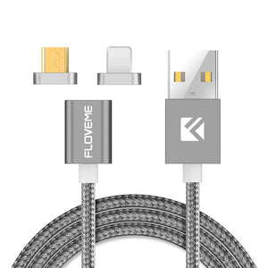 iPhoneGuards magnetic-usb-charger-cable-connectors Gray Accessory iPhone-6 iPhone-6-Plus iPhone-7 iPhone-7-Plus iPhone-SE Charging Data-Cable Fast-Charge Quick-Charge USB
