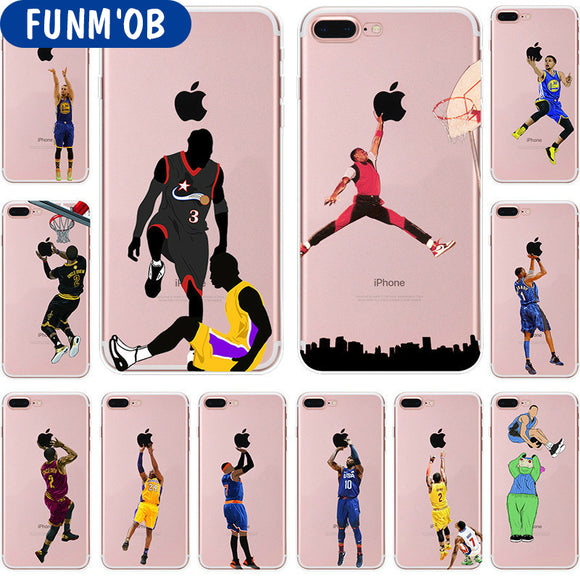 iPhoneGuards nba-basketball-iphone-case-covers 10 For iphone 7 For-Him Silicon iPhone-7 iPhone-7-Plus iPhone-8 iPhone-8-Plus iPhone-X Basketball NBA Sport