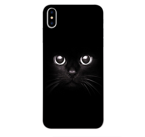 iPhoneGuards drawn-animal-iphone-case-covers 2 For iPhone 6 6S Silicon iPhone-6 iPhone-6-Plus iPhone-7 iPhone-7-Plus iPhone-8 iPhone-8-Plus iPhone-X Animal Cartoon Cat Cute Drawn