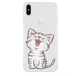 iPhoneGuards drawn-animal-iphone-case-covers 9 For 7Plus and 8Plus Silicon iPhone-6 iPhone-6-Plus iPhone-7 iPhone-7-Plus iPhone-8 iPhone-8-Plus iPhone-X Animal Cartoon Cat Cute Drawn