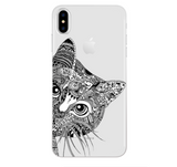iPhoneGuards drawn-animal-iphone-case-covers 9 For iPhone 6 6S Silicon iPhone-6 iPhone-6-Plus iPhone-7 iPhone-7-Plus iPhone-8 iPhone-8-Plus iPhone-X Animal Cartoon Cat Cute Drawn