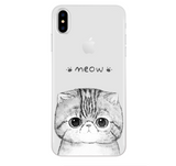 iPhoneGuards drawn-animal-iphone-case-covers 8 For iPhone 7 8 Silicon iPhone-6 iPhone-6-Plus iPhone-7 iPhone-7-Plus iPhone-8 iPhone-8-Plus iPhone-X Animal Cartoon Cat Cute Drawn