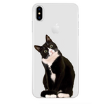 iPhoneGuards drawn-animal-iphone-case-covers 8 For iPhone 6 6S Silicon iPhone-6 iPhone-6-Plus iPhone-7 iPhone-7-Plus iPhone-8 iPhone-8-Plus iPhone-X Animal Cartoon Cat Cute Drawn