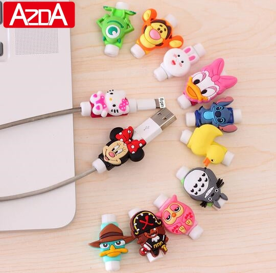 iPhoneGuards protective-cartoon-cable-sleeve 10 Accessory iPhone-6 iPhone-6-Plus iPhone-7 iPhone-7-Plus iPhone-8 iPhone-8-Plus iPhone-SE iPhone-X Universal Animal Anime Cable-Protector Cartoon Cat Cute Data-Cable Marvel Pink Pixar Protective-Sleeve USB