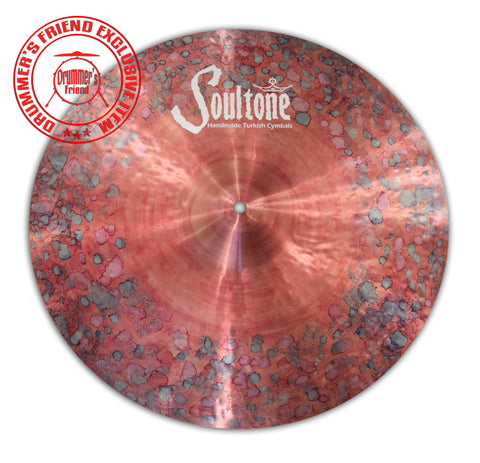 "Soultone Cymbals 17"" Red crash with color drops"