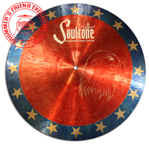 "Soultone Cymbals 18"" Crash - 4th Of July Eagle Limited Edition."