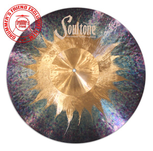 "Soultone Cymbals Blue/Purple 20"" Crash ride"