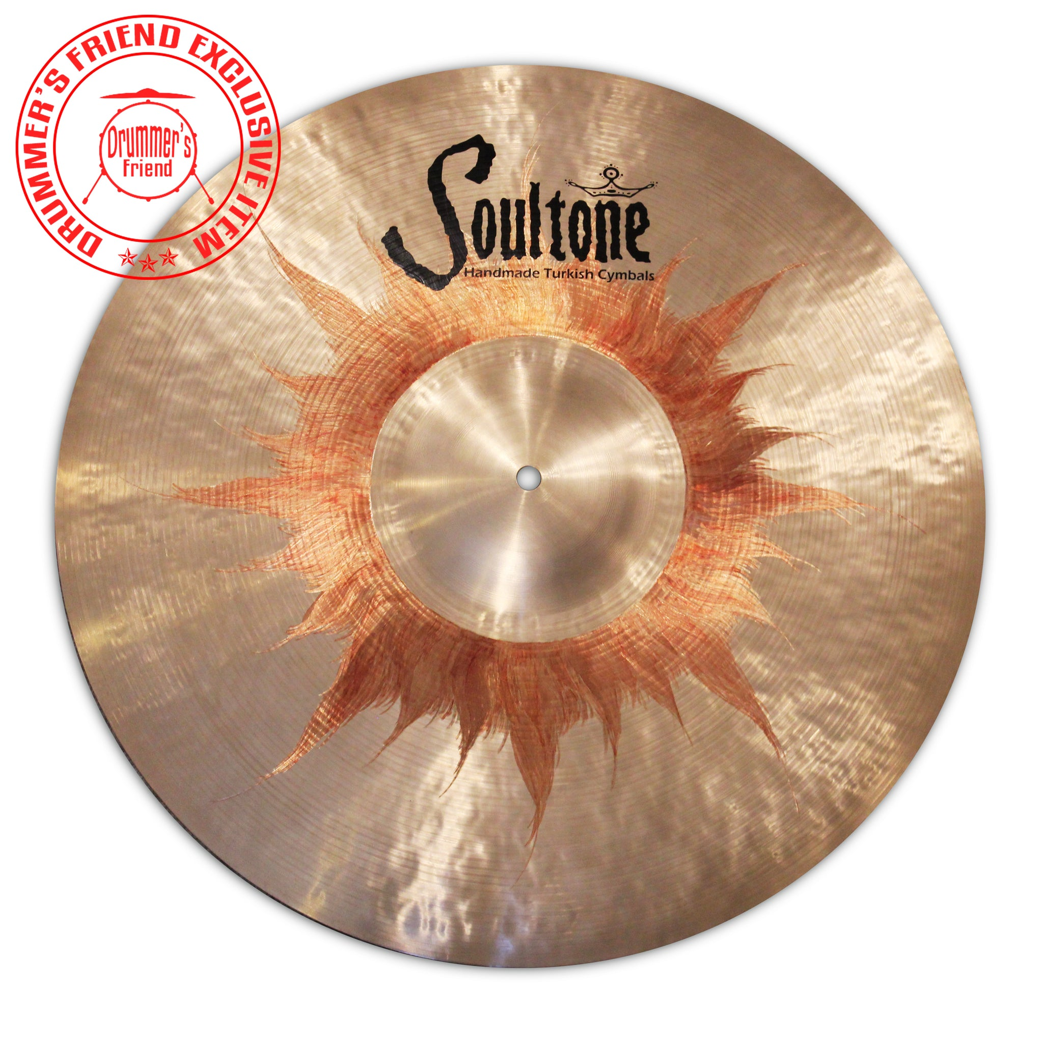 "Soultone Cymbals 21"" Ride with Orange Sunburst"
