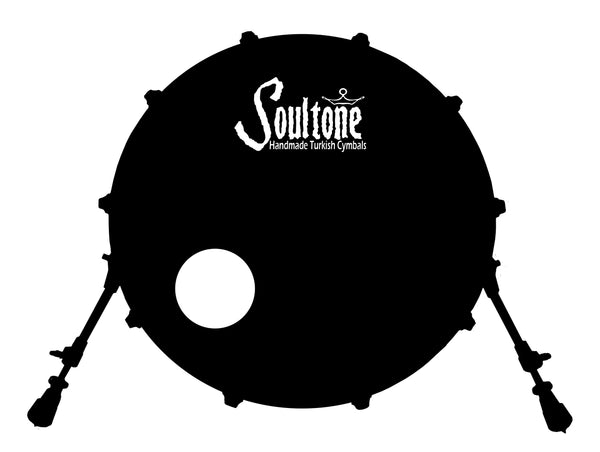Soultone Cymbals Bass Drum Decal