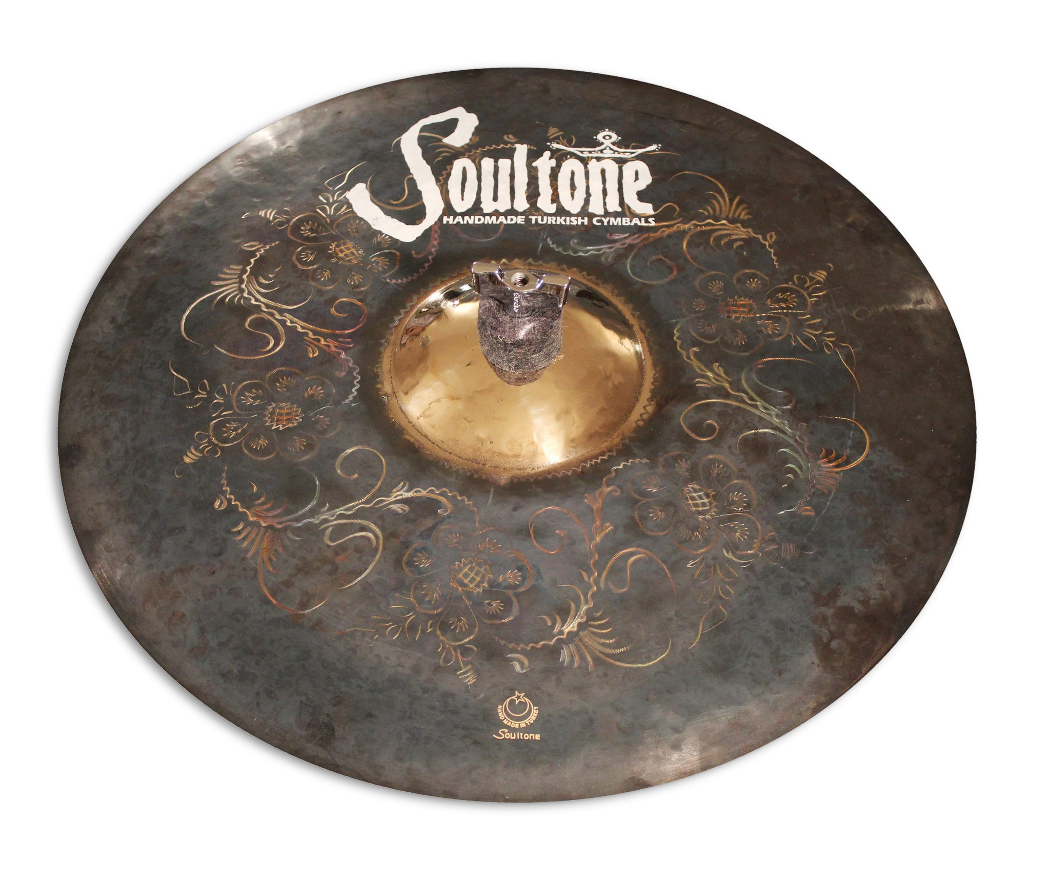 "16"" Explosion Black Matte Crash with Sunburst Artwork 