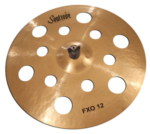 "Soultone Cymbals 16"" FXO 12 Crash / One pair of Los Cabos Drumsticks Bundle"