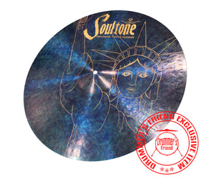 "Soultone Cymbals 20"" Crash/Ride - 4th Of July Statue Of Liberty Limited Edition."