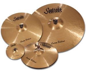 Soultone Cymbals custom Brilliant Series Cymbal set with a Free Splash