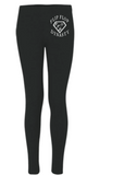 Image of FFD's black leggings with badge logo.
