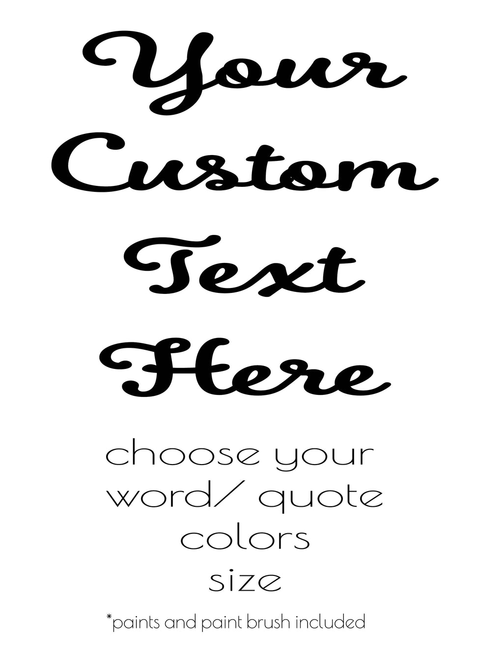 Custom Quote Art Kit - MargalitArts