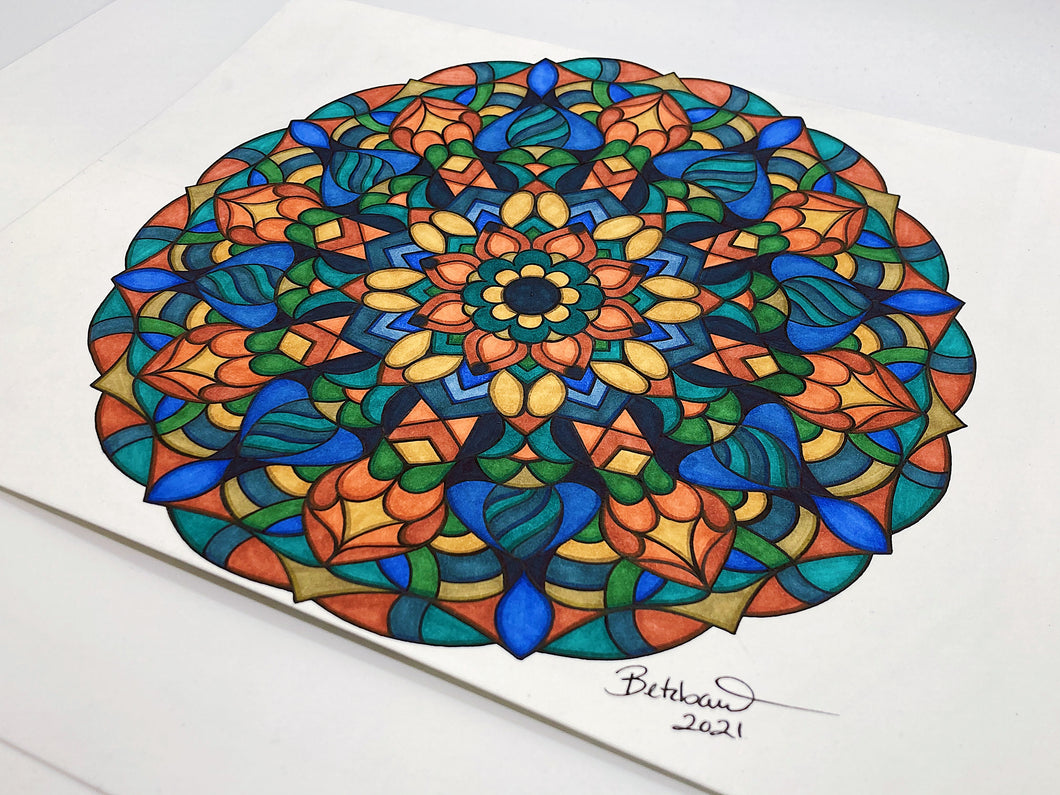 """Dreaming of Summer"" - Original Mandala"