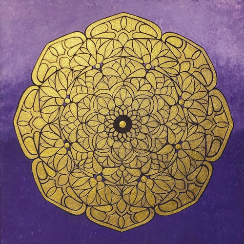 Golden Hope Mandala # 3 - Original painting