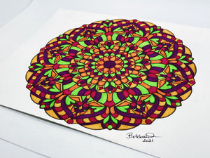 """World of Pure Imagination"" - Original Mandala"