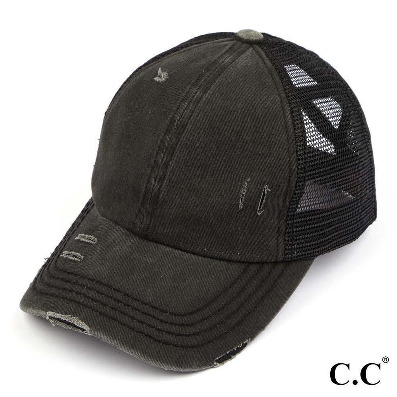 C.C. Brand Criss Cross Ponytail Hat