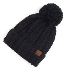Load image into Gallery viewer, Chunky Slipstitch Pom Beanie