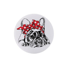 Load image into Gallery viewer, Bulldog Black Collapsible Grip & Stand for Phones and Tablets - Stella's Shabby Boutique