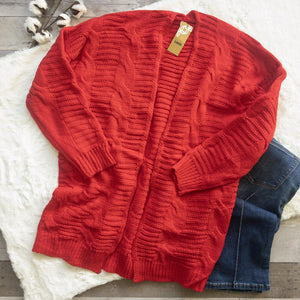 Cable Knit Cardigan-Stella's Shabby Boutique