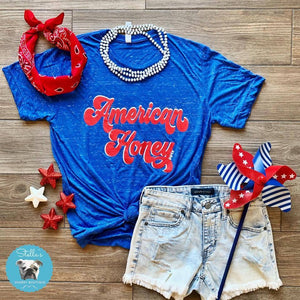 Distressed American Honey Shirt - Stella's Shabby Boutique