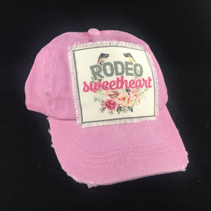 Girls Rodeo Sweetheart Youth Baseball Hat - Stella's Shabby Boutique