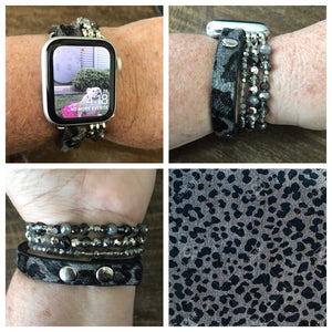 Grey Leopard Smart Watch Band-Stella's Shabby Boutique