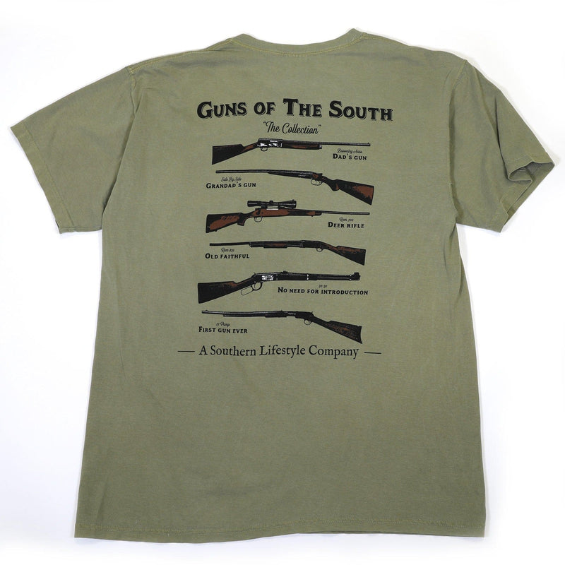 Guns Of The South Tee- Olive-Stella's Shabby Boutique