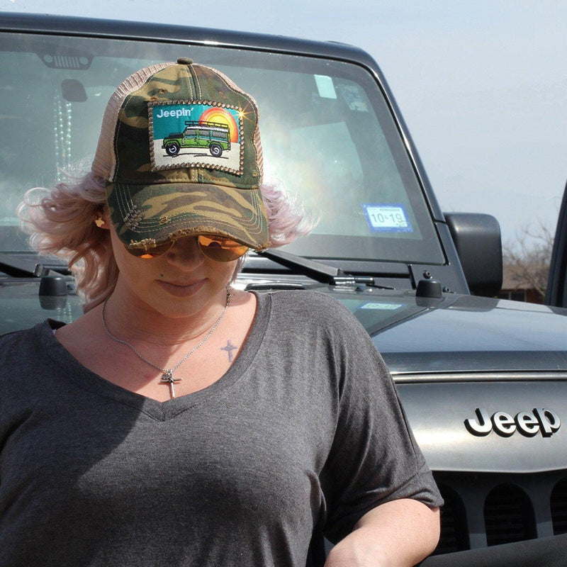 Jeepin Blinged Baseball Hat - Stella's Shabby Boutique