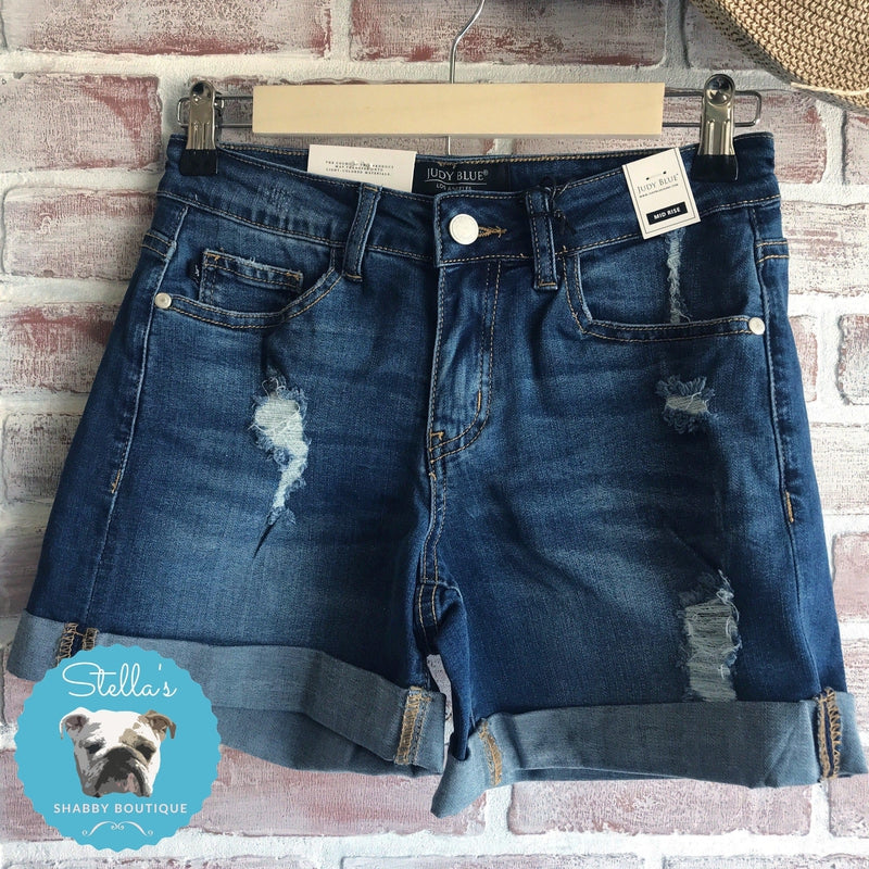 Judy Blue Denim Shorts - Stella's Shabby Boutique