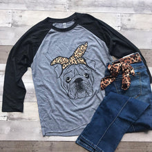 Load image into Gallery viewer, Raglan T-Shirt - Bulldog-Stella's Shabby Boutique