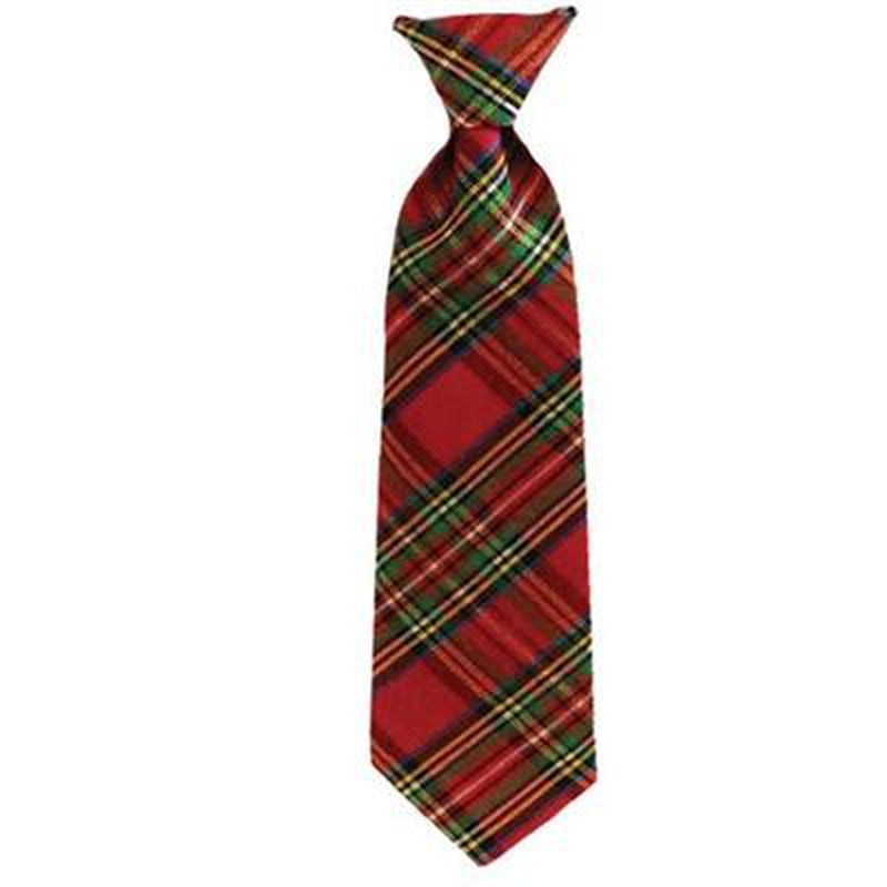 Red Plaid Holiday Tie - Stella's Shabby Boutique