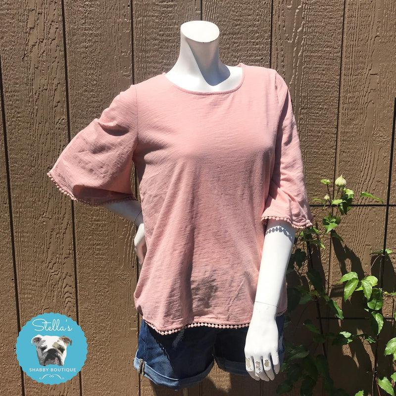 Touch of Rose Colored Top - Stella's Shabby Boutique