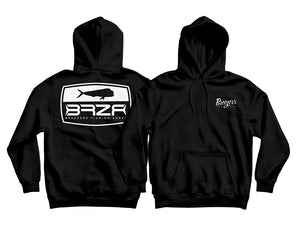 Black Hooded Logo Sweatshirt