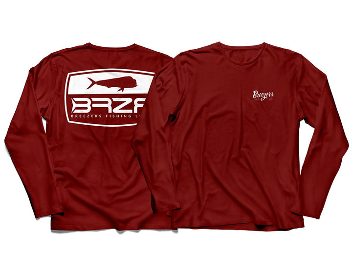 Long Sleeve Logo T in Bloody Decks Red