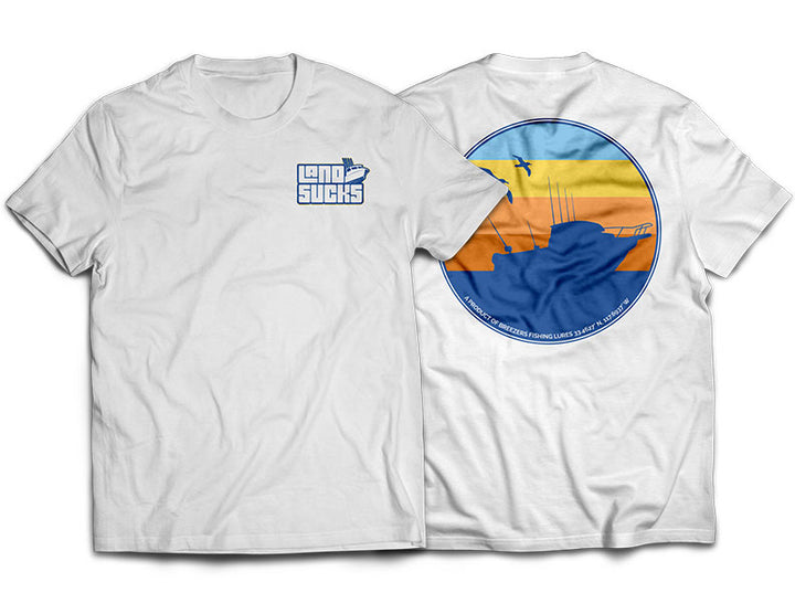 Land Sucks Pilot House Logo Sunrise T-Shirt