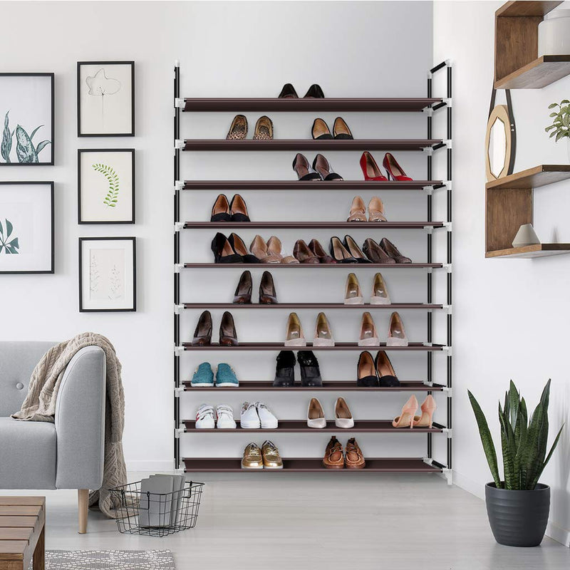 10-Tier Stackable Shoe Rack