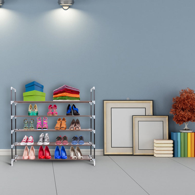 5-Tier Stackable Shoe Rack
