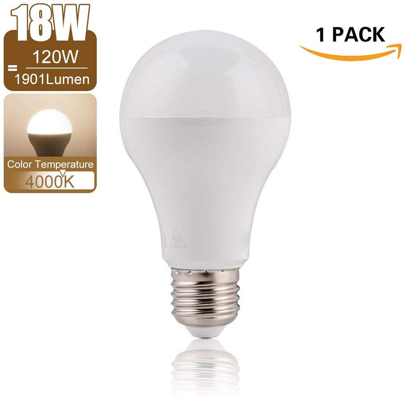 4000K Daylight Natural White LED Light Bulb