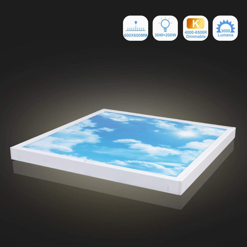 36W Dimmable LED Ceiling Light (60x60cm) - Awenia